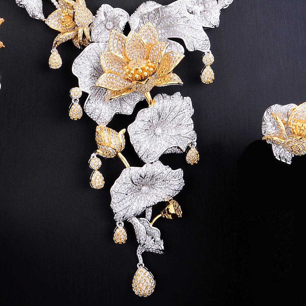 GODKI الفاخرة العجائب الجنية 4 PCS طويل الأفريقي طقم مجوهرات للنساء الزفاف مكعب الزركون نيجيريا دبي الذهب طقم مجوهرات 2019-في أطقم المجوهرات من الإكسسوارات والجواهر على  مجموعة 3
