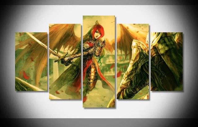7327 fantasy art girl fighting Poster wood Framed Gallery wrap art ...