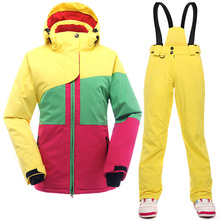 New Arrival Women Winter Suit Super Quality Snowboard Jacket Waterproof Breathable Women Ski Jacket And Pants Set For Skiing