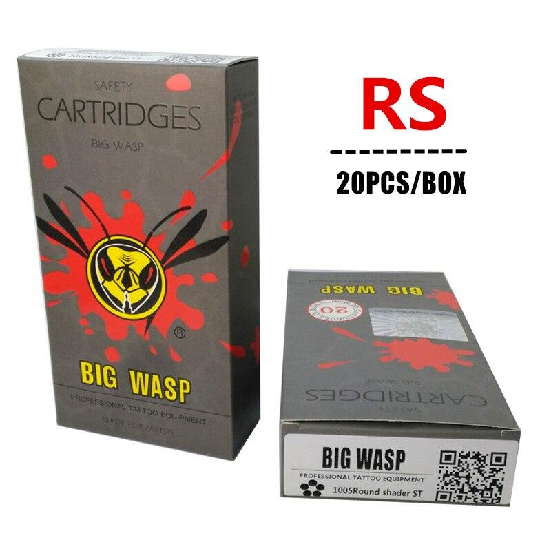Big Wasp  Gray Disposable Cartridge Round Shader Tattoo Needle Cartridges 3RS/5RS/7RS/9RS/11RS/13RS/14RS