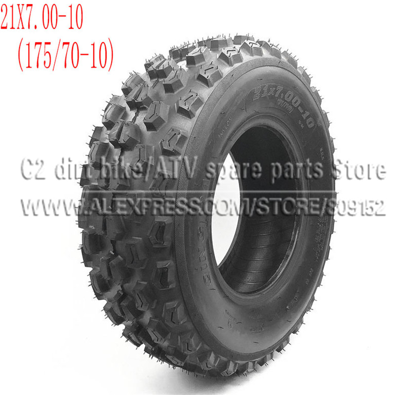 Aspiring 21x7.00-10 Atv Tire 175/70-10 Four Wheel Vehcile Motorcycle 10 Inch Atv Tyre Fit For Chinese 125cc 150cc Big Atv Front Wheels Neither Too Hard Nor Too Soft Atv,rv,boat & Other Vehicle