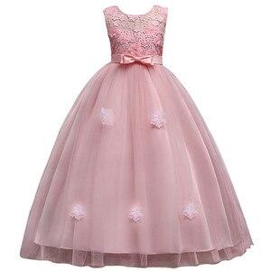 Image 4 - Mới Công Chúa Bé Gái Váy Đầm Ren Hoa Bé Gái Váy Đầm Voan Bé Gái Cuộc Thi Áo Đầu Tiên Hiệp Thông Đầm Đảng Đồ Bầu