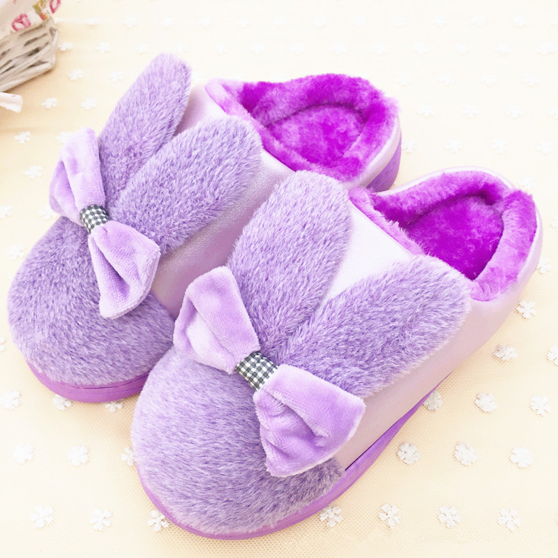 Winter Warm Indoor Women Slippers Size 34 40 Pantoufle Femme Plush Cute Bedroom Home Shoes Flat