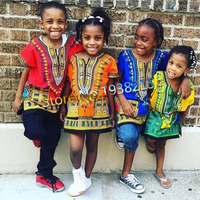 Wholesale 2016 Child New Fashion Design Traditional African Clothing Print Dashiki T Shirt For Boys And