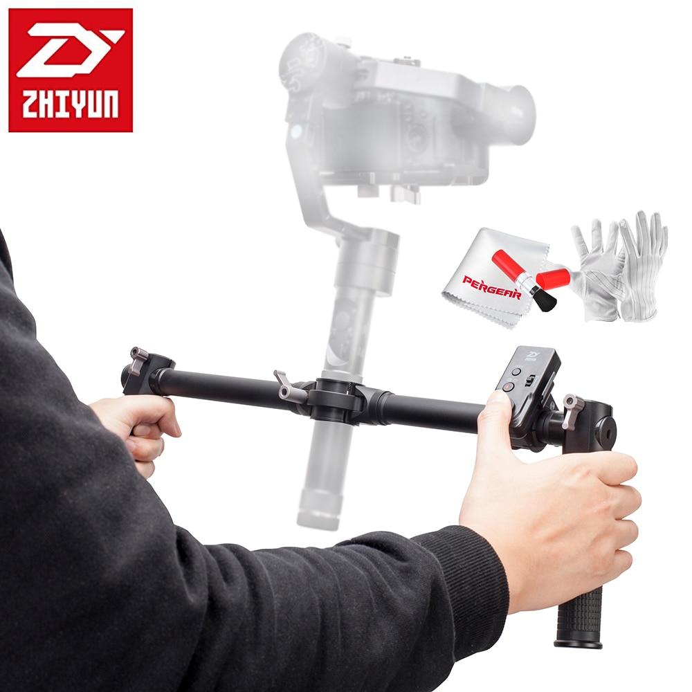 Zhiyun Dual Handheld Grip for Zhiyun Crane Crane-M 3-Axis Handheld Gimbal Stabilizer + Zhiyun ZW-B02 Wireless Remote Controller zw 3b 1b handheld dual purpose magnifier black white