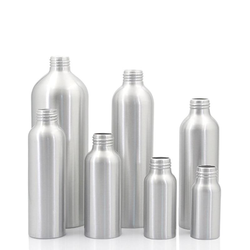 Image 3 - Sedorate 20 pcs/Lot Empty Aluminum Bottles With Aluminum Screw Lid Caps 30ML 50ML 100ML 120ML 150ML 250ML 500ML Container JX156Refillable Bottles   -