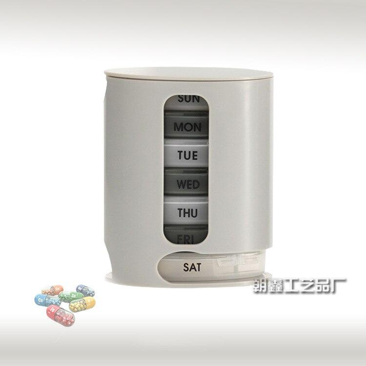 7 days drug box Pill pro mini pill box convenient drug box one week ...