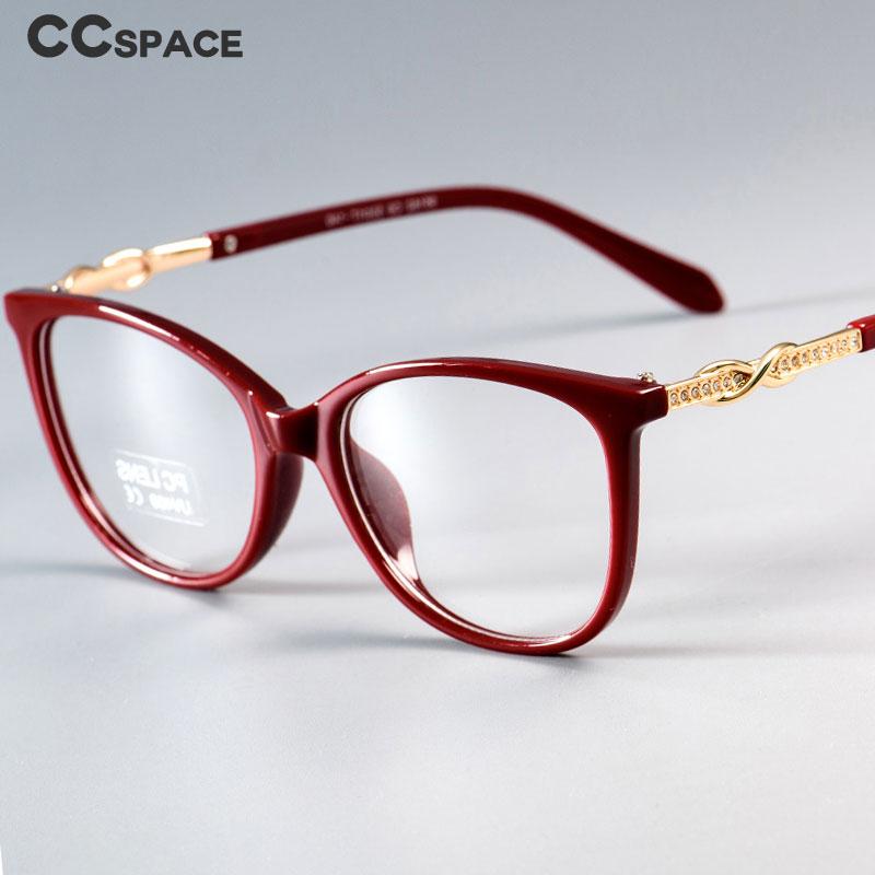 45705 Fashion Cross Knot Glasses Frames Shiny Rhinestone Men Women Optical Fashion Computer Glasses