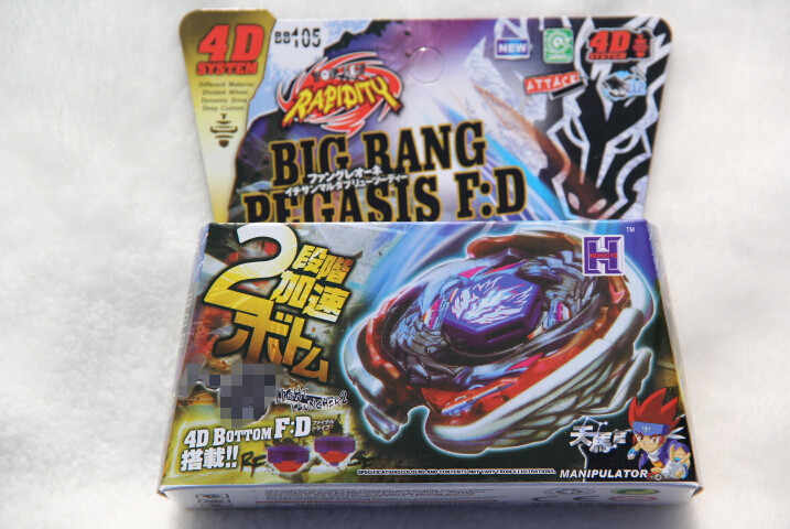 +Grip Black Takara Tomy Beyblade Big Bang Pegasis F:D BB 105 4D System+Launcher