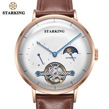 STARKING Watch Men SteeL Black Fashion Business Watch High Quality Automatic Mechanical Wristwatch Male Clock Relogio Masculino