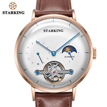 Starking 시계 남자 철강 블랙 패션 비즈니스 시계 고품질 자동 기계식 손목 시계 남성 시계 relogio masculino