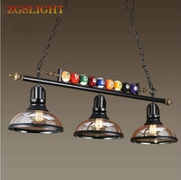 Retro Industrial Creative billiard Table Pendant Lamp Nordic Decorate Lights E27 Pendant Lights Restaurant Bar Cafe Hanging Lamp