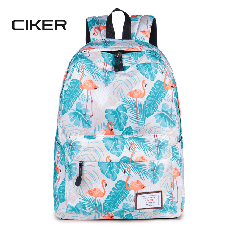 CIKER Hot waterproof women backpack cute fashion Flamingo printing backpacks for teenagers women's school bags mochilas rucksack ciker new preppy style 4pcs set women printing canvas backpacks high quality school bags mochila rucksack fashion travel bags
