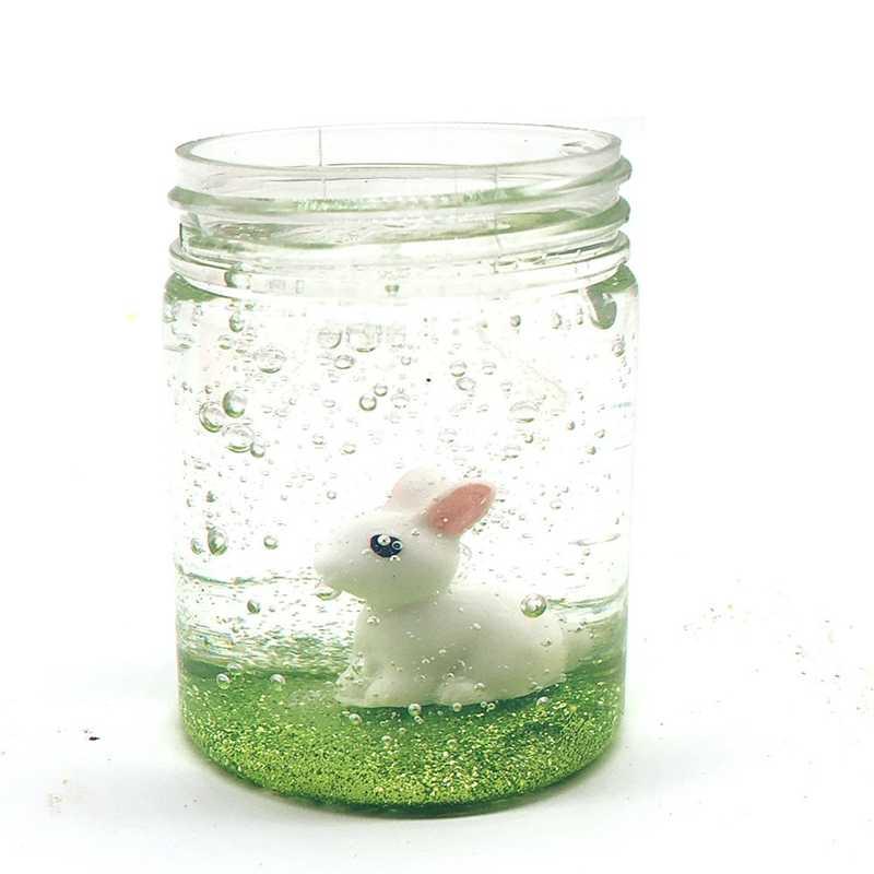 Кристальная пудра для животных, слизь, пушистая пена, снятие стресса, слизь, песок, ремесло, кролик в хрустальной грязи, Лизун, антистресс, игрушка из коровьей слизи