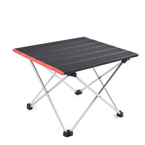 Image 1 - Ultra Light Aluminum Alloy Tables Spot Outdoor Camping Table Portable Foldable Tables Camping Self driving Table