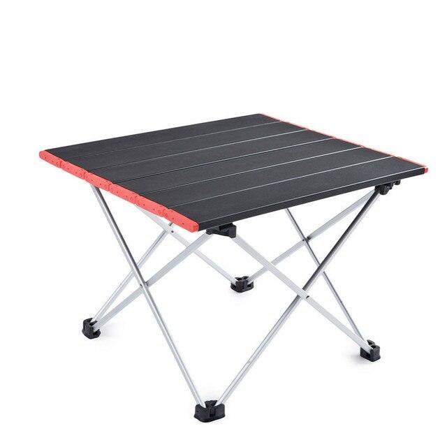 Ultra Light Aluminum Alloy Tables Spot Outdoor Camping Table Portable Foldable Tables Camping Self driving Table