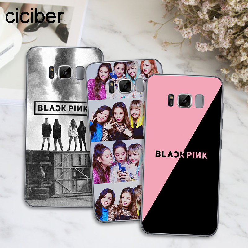 ciciber BLACK PINK BLACKPINK K-pop Kpop For Samsung Galaxy S7 Edge S8 S9 Plus J5 J7 2016 Note 8 Cover Soft TPU Phone Case
