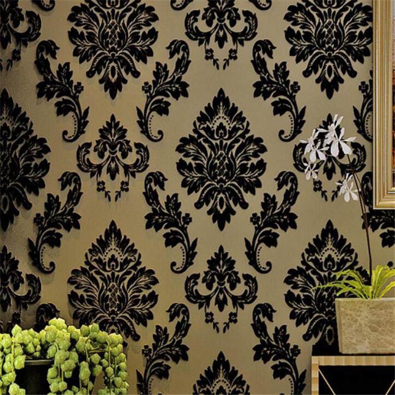 ФОТО beibehang Hot Wallpapers European - style Damascus non-woven wallpapers living room bedroom TV backdrop wallpaper for walls 3d