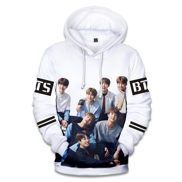 BTS Love Yourself World Tour Kpop 3D Hoodies Sweatshirts Women/Men Portrait print