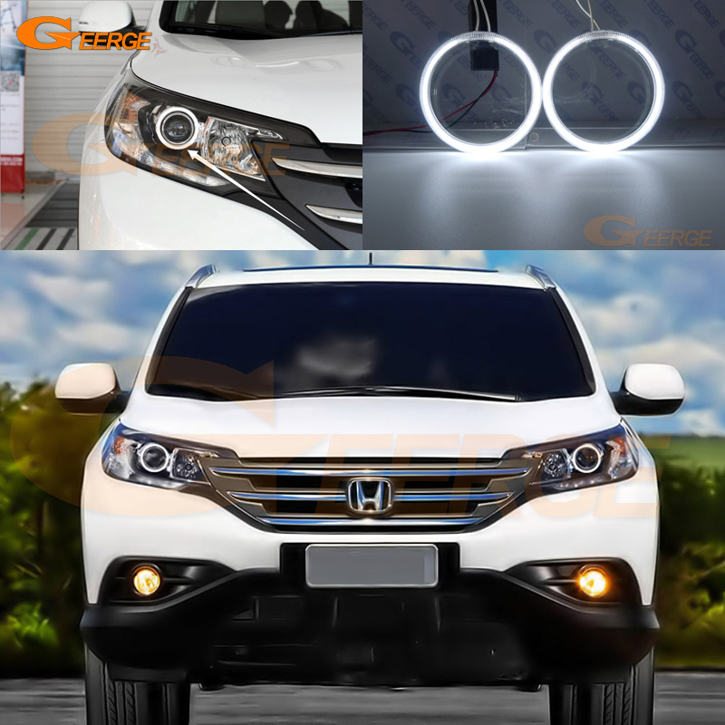 For Honda CR-V CRV 2012 2013 Projector Headlight Excellent Ultra Bright Headlight Illumination CCFL Angel Eyes Kit Halo Ring