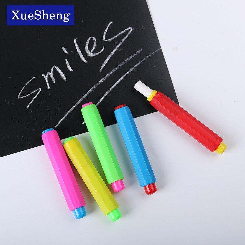 Best buy ) }}1PC Colourful Chalk Holders Clean Teaching Hold For Teacher Children Home Education Chalk Sets
