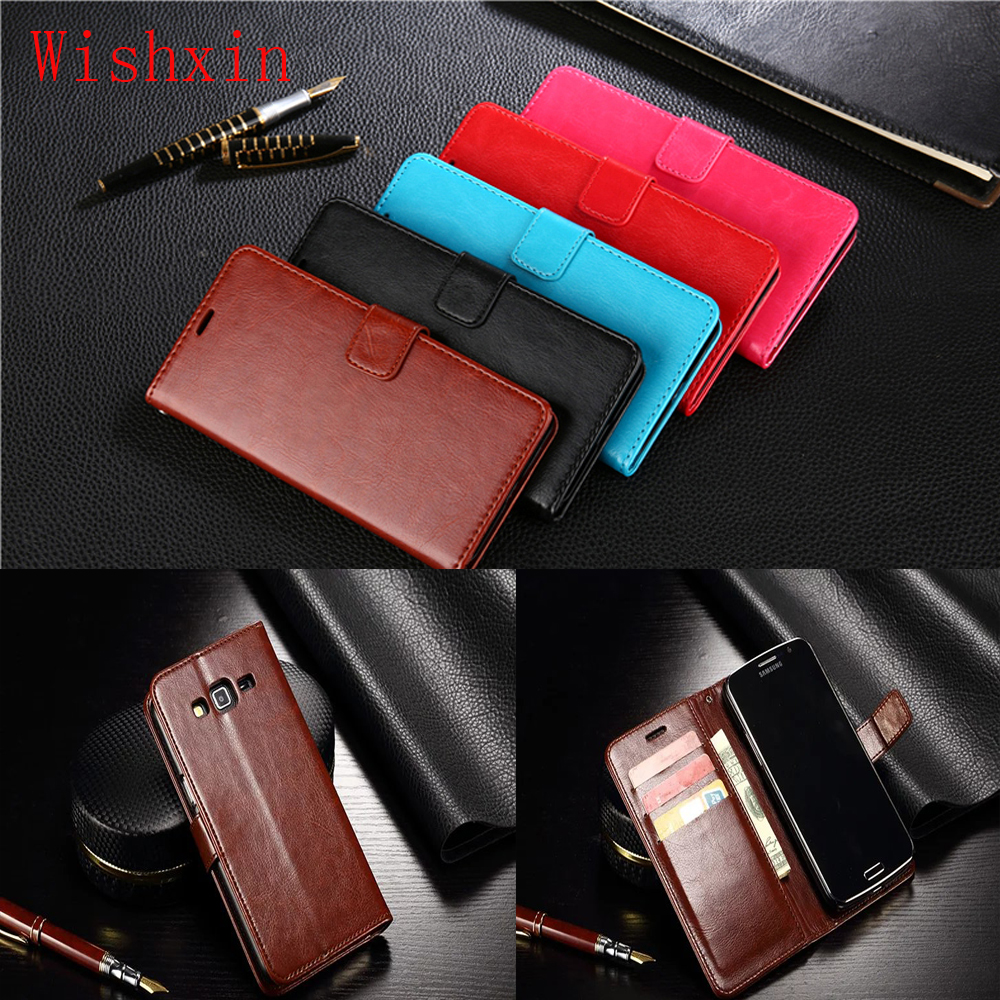 Premium PU Leather Walet Flip Case for Samsung Galaxy Grand 2 Duos G7102 G7105 G7106 G7108 G7109 G7100 G71S SM-G7102 2013 5.3 image