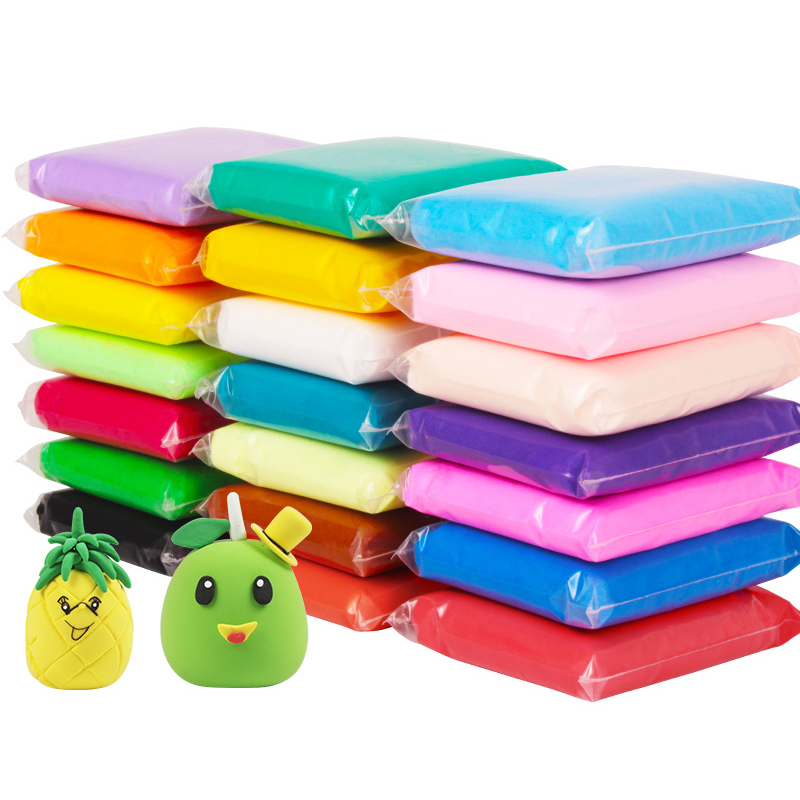 Neue Schleim 12/24/36 Farben Weiche Kreative Knetmasse Kinder Lernen Polymer Clay spielzeug licht ton intelligenter plastilin spielzeug geschenk