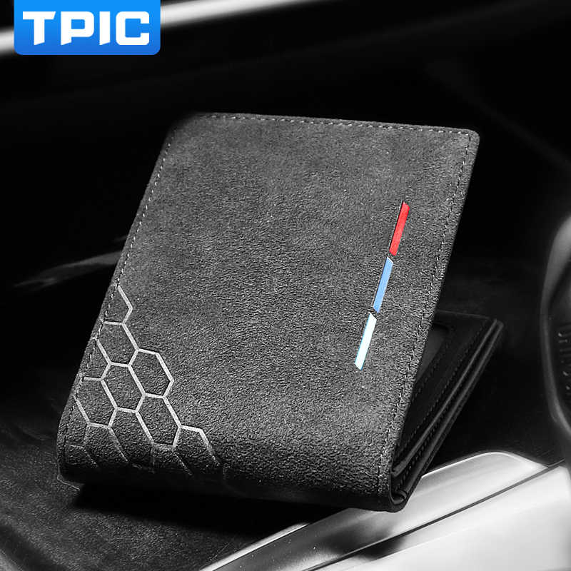Alcantara Bank Credit ID Card Holder Men Card Package Holder For Mercedes W204 W203 W211 BMW E46 E90 E60 M Mustang Subaru BRZ