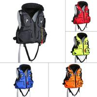 Adult Adjustable Safety Life Jacket Swimming Vest Fishing Drifting Boating Survival Safety Jackets for Water Sports 5 Colors 2XL