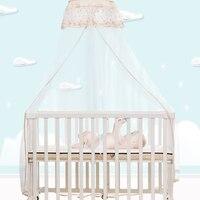 Алюминиевый сплав детская кровать высокого качества Три Уровня регулируемая детская кровать сетка от комаров для детской кроватки матрас