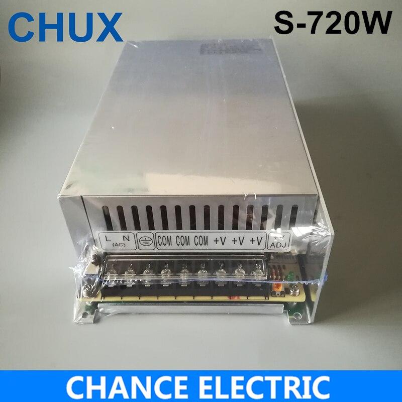 Ad alta potenza di commutazione di alimentazione 720 w 24 v 30A alimentazione elettrica di commutazione AC a DC per LED luce di striscia (S-720-24)Ad alta potenza di commutazione di alimentazione 720 w 24 v 30A alimentazione elettrica di commutazione AC a DC per LED luce di striscia (S-720-24)