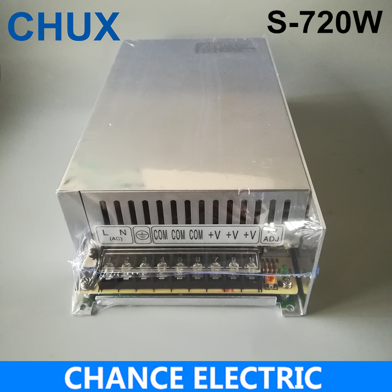 High power switching power supply 720W 24V 30A switching power supply AC to DC for LED strip light (S-720-24) meanwell 12v 350w ul certificated nes series switching power supply 85 264v ac to 12v dc