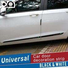 Araba Kapı Uzatmak anti çarpışma Şerit Siyah/Beyaz Toyota Avalon için Auris Yaris Verso Camry Tundra Venza Tacoma sienna Sequoia
