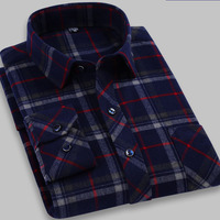 new arrival men's 100% cotton long sleeve shirt extra large man plaid autumn plus size M L XL 2XL 3XL 4XL 5XL 6XL 7XL 8XL 9XL