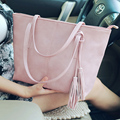 2016 new handbag women trend Korean style candy color tassel handbags women portable single shoulder crossbody handbags