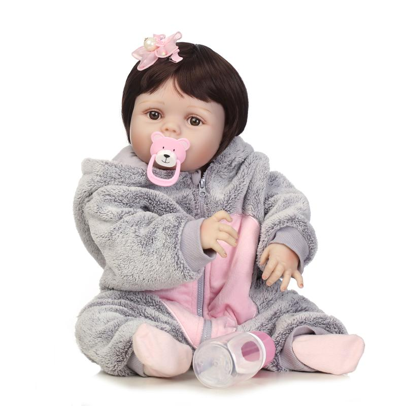 NPK full silicone vinyl reborn dolls lifelike baby girl kids brithday gift toys silicone newborn baby doll new design hotsell new 22 inch dolls handmade realistic lifelike real touch npk silicone reborn baby dolls vinyl silicone newborn doll girl gift