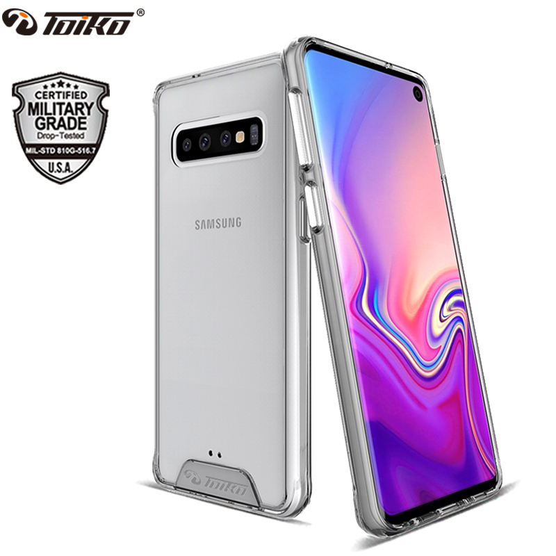 TOIKO Chiron Clear Shockproof Cases for Samsung Galaxy S10 S10e S10 Plus Protective Shell PC TPU Bumper Phone Accessories Cover