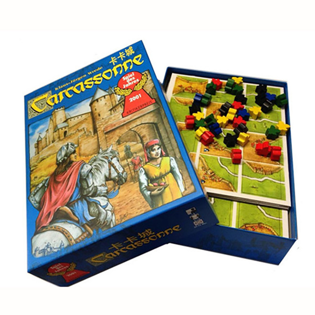 Carcassonne, Board Game 2-5 Players Cards Game For Party/Family/Friends Easy To Play With Free Shipping