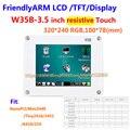 FriendlyARM W35B, 3.5 дюймов Сенсорный Экран Сопротивление Сенсорный Дисплей TFT, для S3C2440 MINI2440 MICRO2440 совета