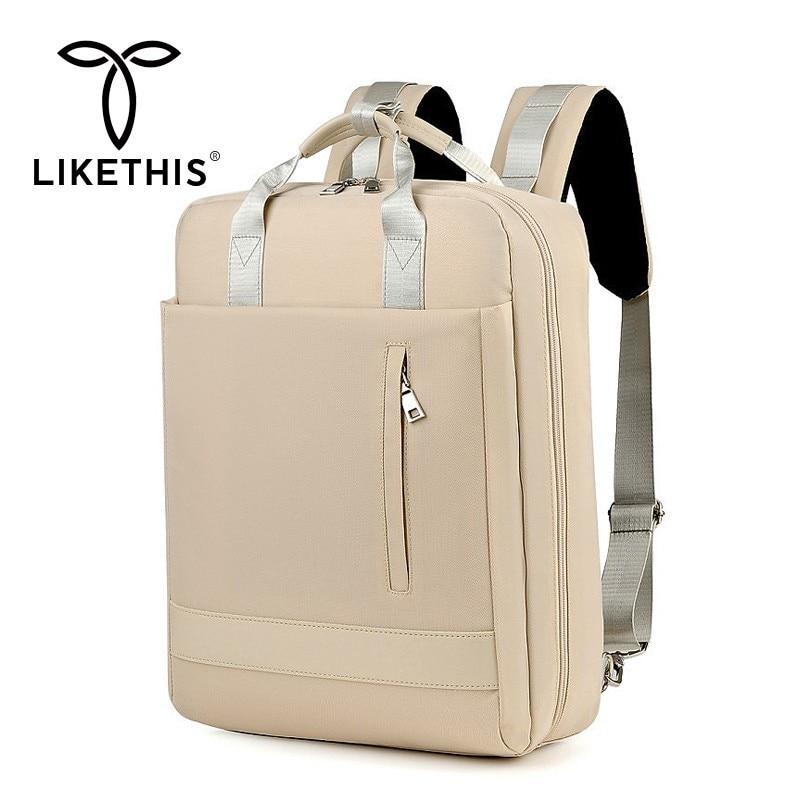 LIKETHIS Women Bag School Backpack USB Interface Mummy Bag Large Capacity Multifunction Travel Fashion Women Mochila Waterproof