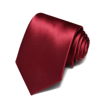 High Quality Microfiber Waterproof Solid Black Red Ties for Men Design Fashion Neck Ties 8cm Men's Formal Business Tie Gift Box