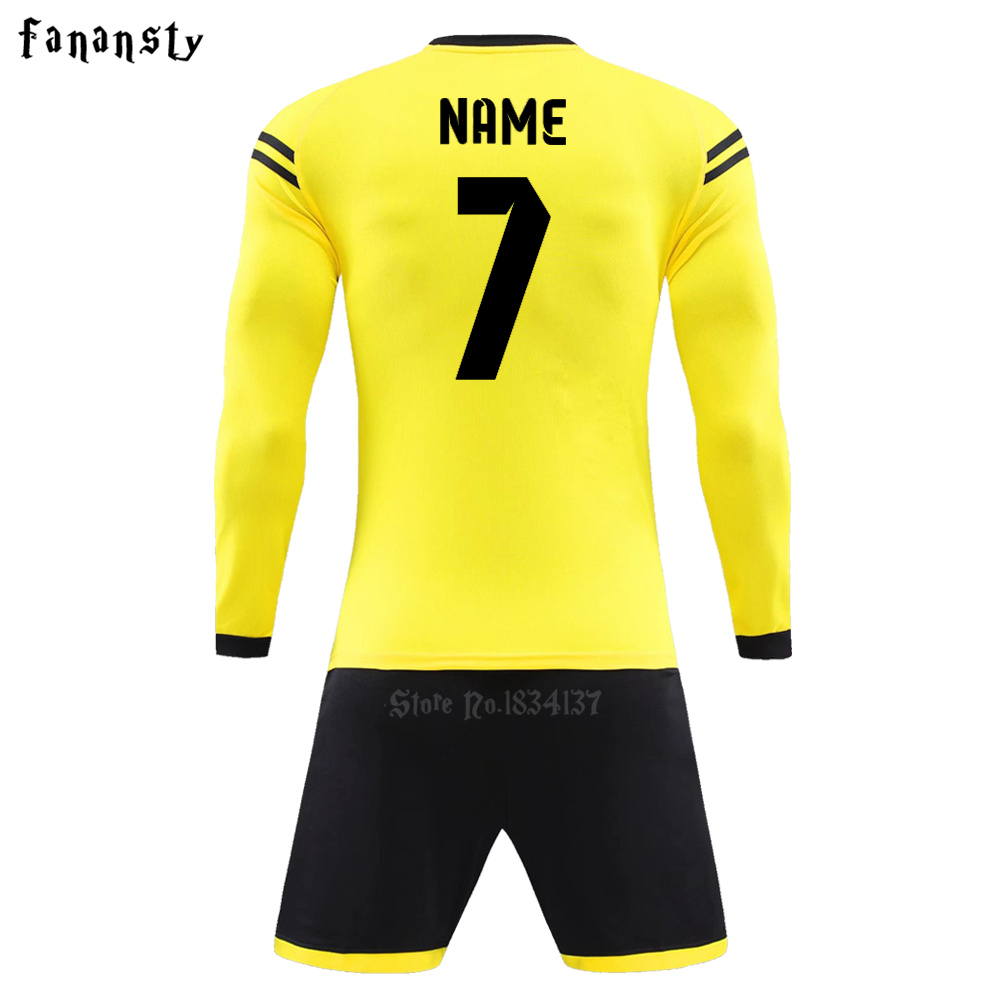 Men soccer jerseys custom football uniforms long sleeve youth adult college  youth soccer sets kit men survetement football 2017-in Soccer Sets from  Sports ... 0fc79259d