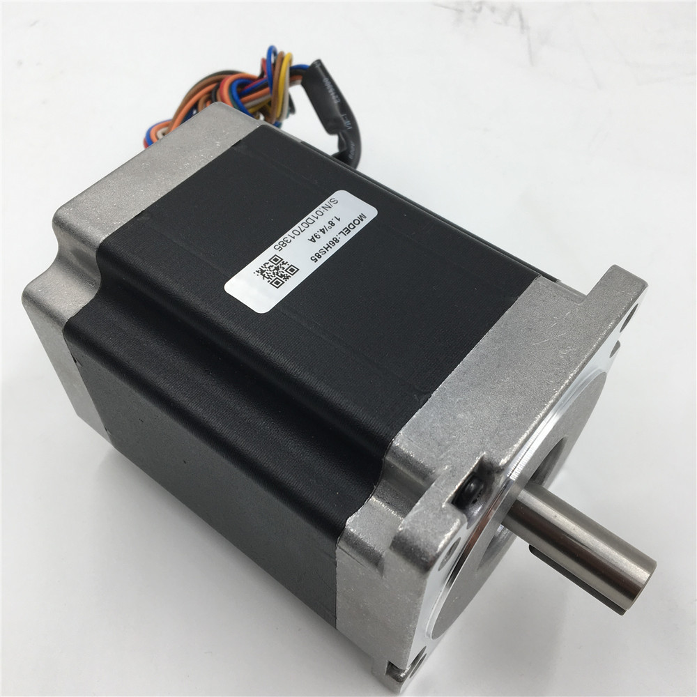 Stepper Motor Nema 34 Flange 86mm 2 Phases 6A 150MM Motors 12NM/ 1714oz.in 1.8 degree Motor Keyway 5mm Parts for CNC Machine vending machine parts 1 sets motor cables for 60 pieces motors