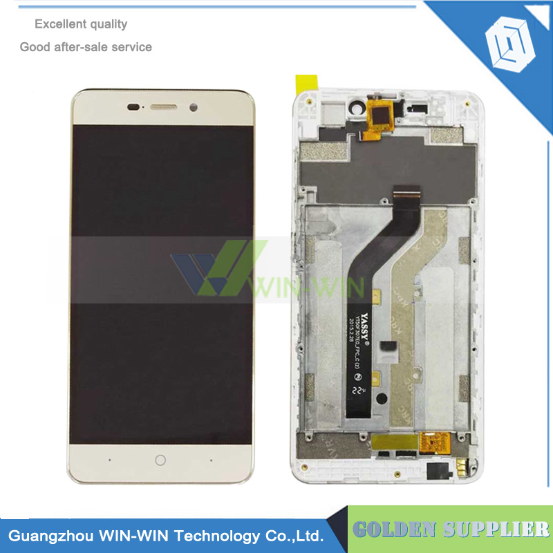For ZTE Blade X3 LCD Display + Touch Screen Panel Replacement Screen For ZTE Blade X3 D2 with Frame Free shipping