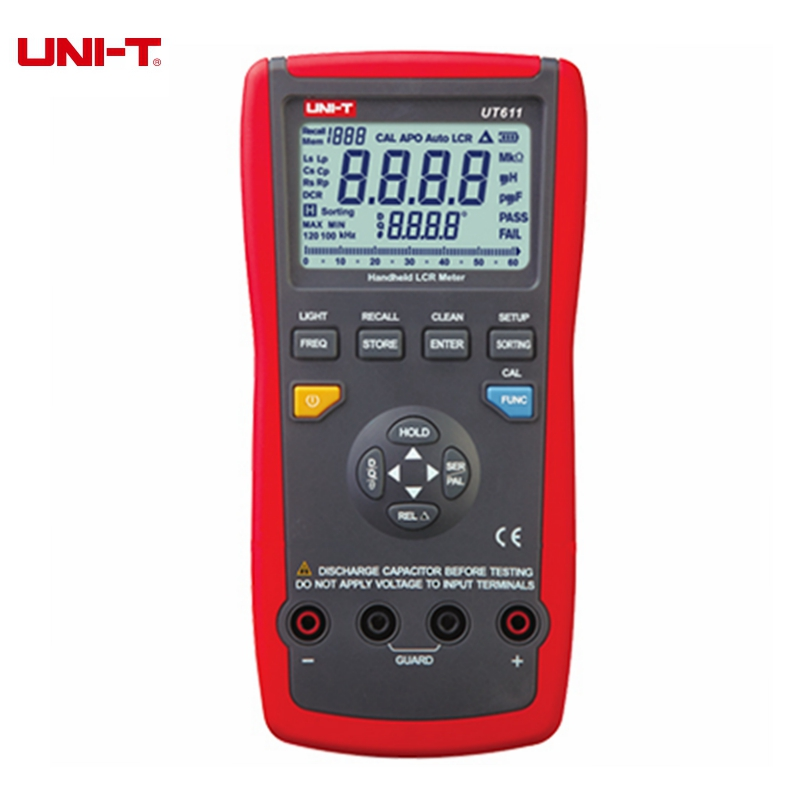 UNI-T UT611 UT612 LCR Digital Meter Inductance Capacitance Resistance Frequency Tester Auto LCR Smart Check and Measurement lutron lcr 9083 digital lcr meter