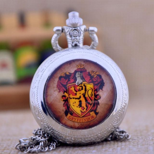 Harry Potter Gryffindor School Lion Black/Bronze/Silver Glass Dome Design Quartz