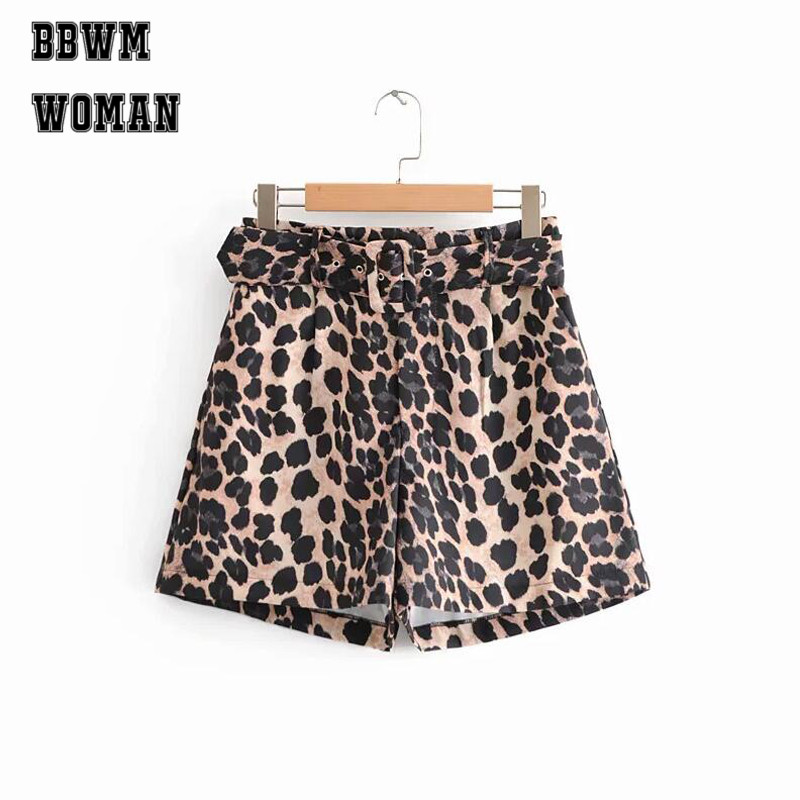 Leopard Women   Short   European Style Autumn Easy To Match   short   Female Fitness   Shorts   ZO904