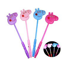 돼지 Peggy LED 빛나는 장난감 4 색 Availabe 돼지 패턴 광선 스틱 어린이 밤 즐거움 휴일 Patry 장식 완구