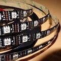 4 m/reel Endereçável 60 LEDs/m DC5V WS2813 RGB pixel led strip, à prova d' água por revestimento de silicone; IP65, com 60 pixels/M; PCB PRETO