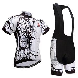 Image 3 - 새로운 도착 스트레치 여름 사이클링 저지 스트랩 턱받이 반바지 키트 통풍 로파 ciclismo 사이클링 의류 남성 여성 wkh00008
